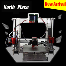 high speed long life and acrylic Reprap Prusa i3 DIY 3d Printer kit with 2 Roll Filament 4GB SD card and LCD
