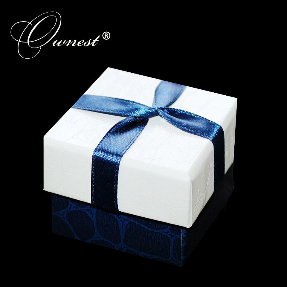 Ownest Jewelry Eurpean bowknot blue and white best quality beautiful gift boxes inclub ring/earrings/necklace fine jewelry(China (Mainland))