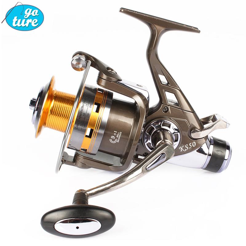 Spinning Carp Fishing Reel Double Drag Metal Spool Bait Runner Reel KS50 KS60 10BB Fishing Wheel