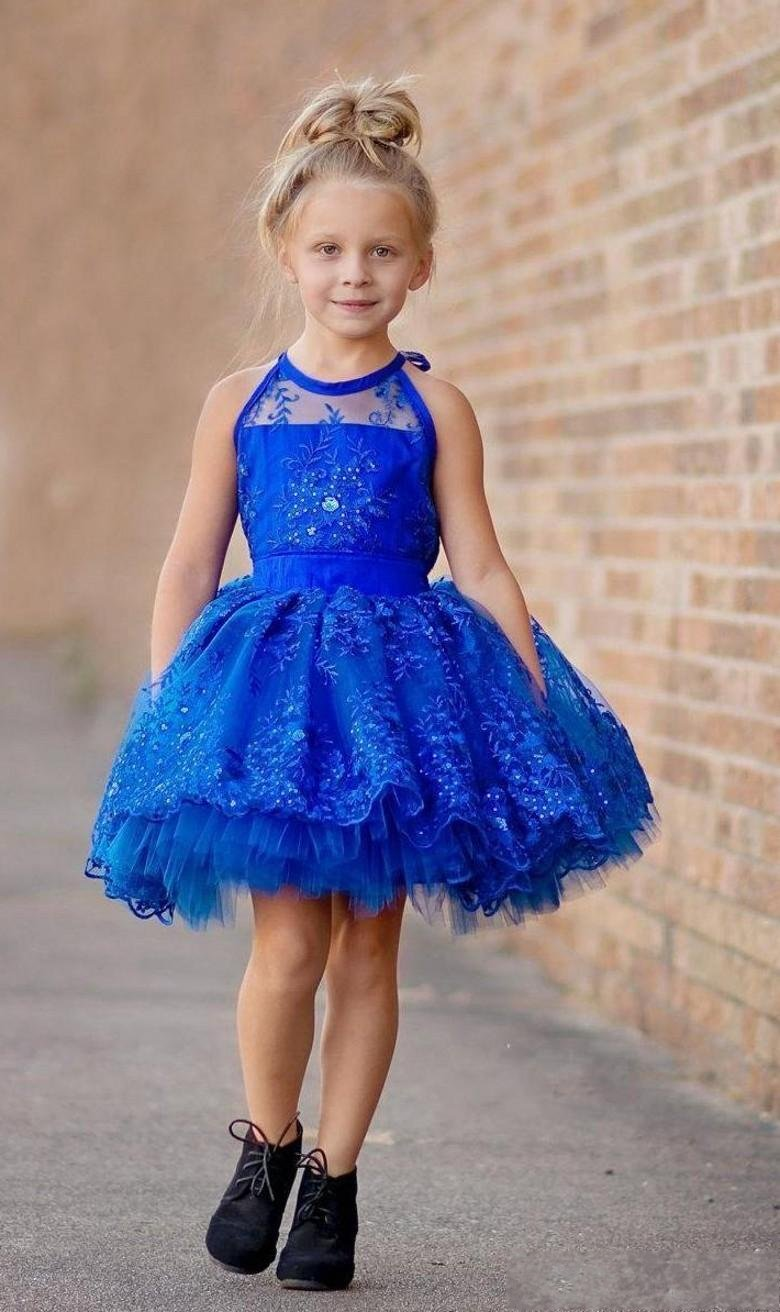 Платья детские короткие пышные