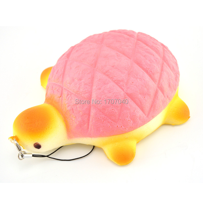 14CM Jumbo Squishy Bread Scented Tortoise Phone Bag Chain Charms Bun Soft Straps Toys 1pcs(China (Mainland))