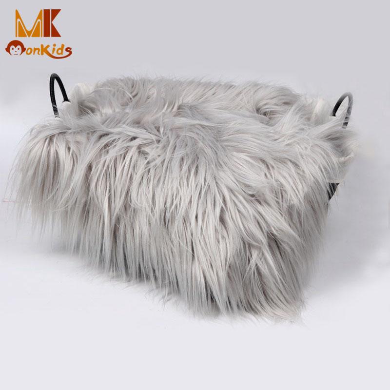 Monkids 2016 Baby Swaddle Blanket Faux Fur Soft Handle Blanket Fur Wool Mat Background Carpet Newborn Photography Props Basket(China (Mainland))