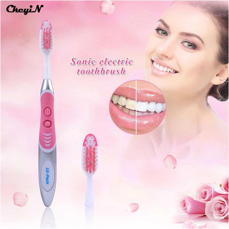 Sonic escova de dentes elétrica à prova d' água da bateria operado precisão escova de dente dentes branqueamento/p00 correspondência cabeças de escova por atacado