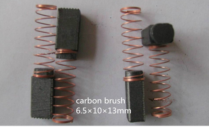carbon brush 6.5*10*13mm for electric drill /Washing Machine brush ,FREE SHIPPING 5pairs(Hong Kong)