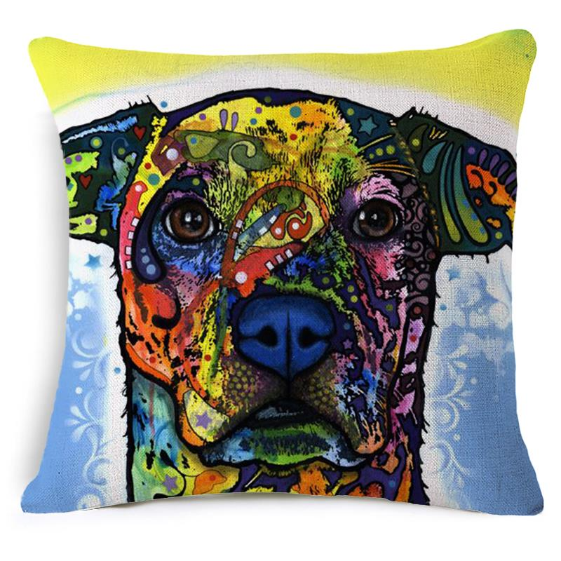 Dachshund Dog Series Cushion Covers Throw Pillow Cover Linen Cotton Plain Cushion Covers Pillowcase Car Covers