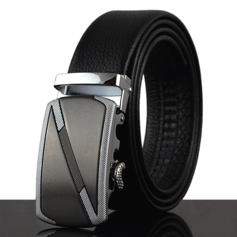 Men's leather belt buckle belt automatic belt belt leather floor(China (Mainland))