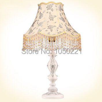 European Art Deco Lampe Table Touch Switch Daylight Desk Lamp Fabric Lampshade Lamp Antique Bedroom Bedside Lampe Table(China (Mainland))