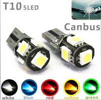 Wholesale Canbus T10 5smd 5050 LED car led Light Canbus W5W 194 5050 SMD Error Free White Light Bulbs
