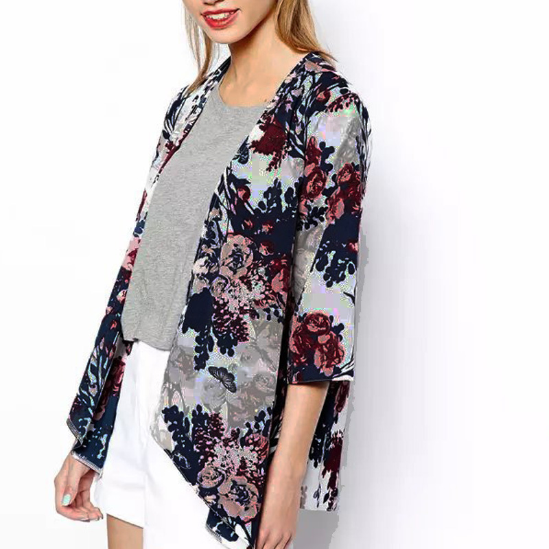 2016 Summer Autumn Women Kimono Cardigan Floral Print Blouse Mujer Ropa Camisas Femininas Size S-6XL  -  Daisies Sumi Store store