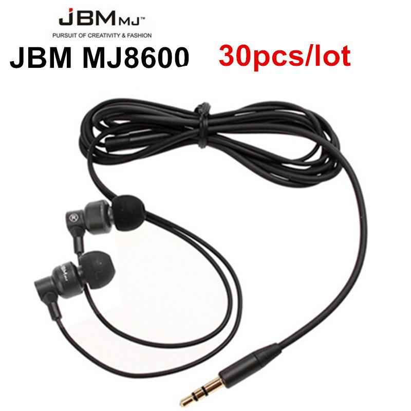 30x Wholesale JBM 8600 Stereo Bass Metal Handsfree Head set Head phone 3.5mm Earbuds Earphones For Iphone Samsung Mp3 MP4(China (Mainland))