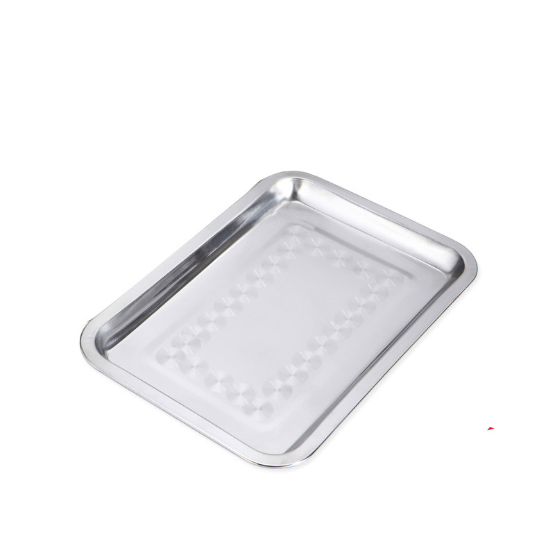 Barbecue Tools Rectangular Stainless Steel Tray Plate Rectangular Grill Stainless Bbq Grill(China (Mainland))