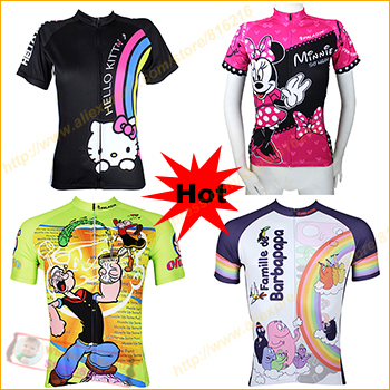 Cartoon Series men women cycling jersey 2015 Bike MTB bicycle Short sleeve jerseys Jacket road bike Sportswear - Fashion the benefits cap / glasses clothing accessories stores store