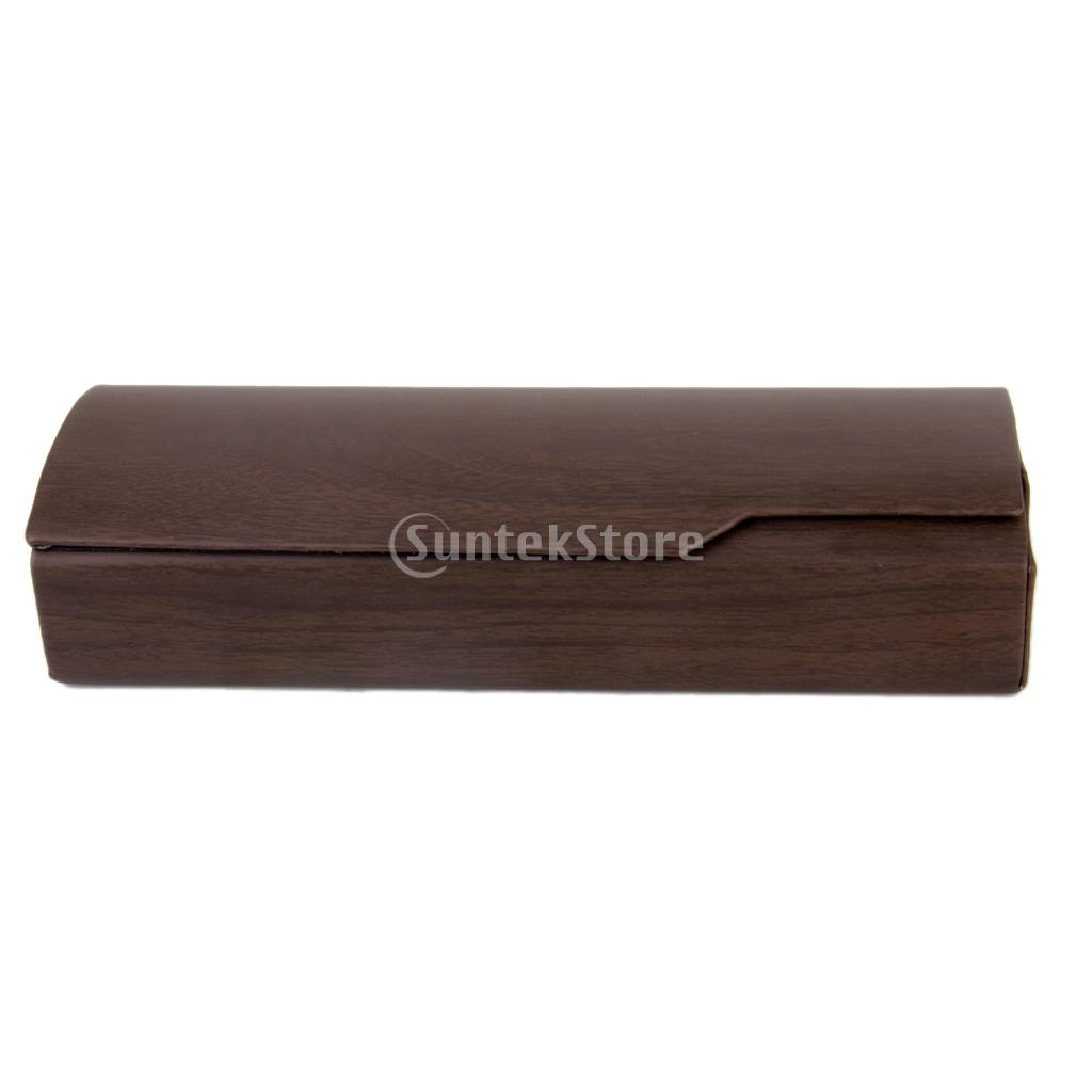 New Arrivals 2015 MagiDeal Wood Grain Leather Hard Glasses Box Eyeglass Sunglass Eyewear Case Free Shipping(China (Mainland))