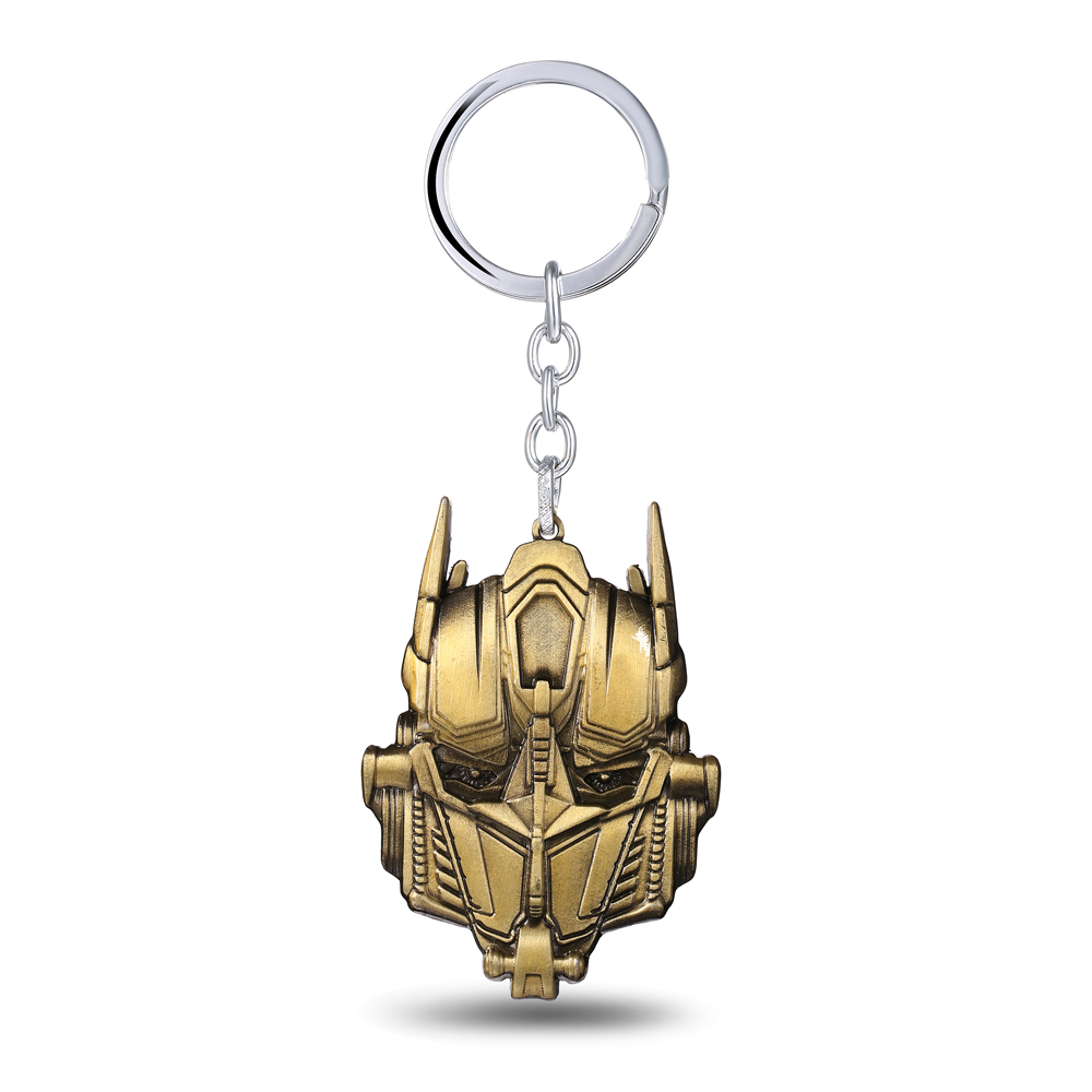 J&R Autobots Bumblebee Optimus Prime Transform Keychain For Men&Women Gold Color Zinc Alloy Key Chain Ring Jewelry Dropshipping(China (Mainland))