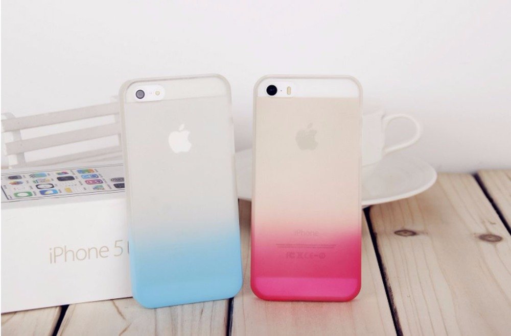 10 Color Transparent gradients color cover iPhone 4s 5s case Phone protective Mobile phone shell - Super discount market store