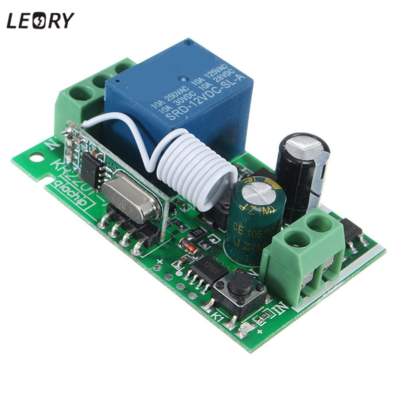 Smart Home DC 12V 220V 10A 1 Ch Wireless RF Remote Control Receiver Relay Switch 315/433 MHz Channel Heterodyne Best Price(China (Mainland))