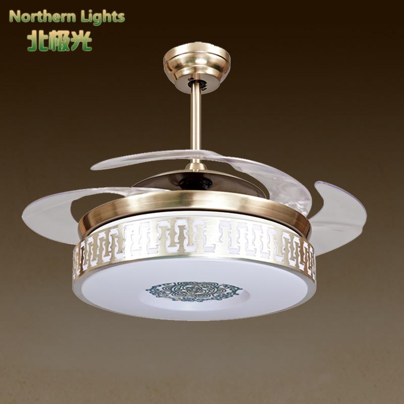 luxury Crystal ceiling fan lights chandelier modern european style fan ...