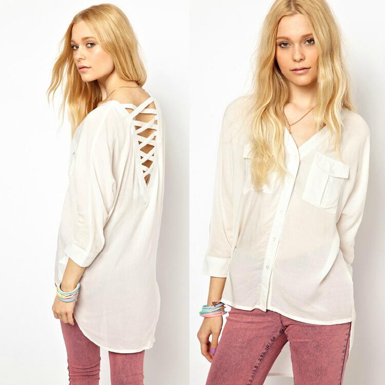Женские блузки и Рубашки 8455 V Femininas blusas s/xxl женские блузки и рубашки summer blouse blusas femininas 2015 roupas s