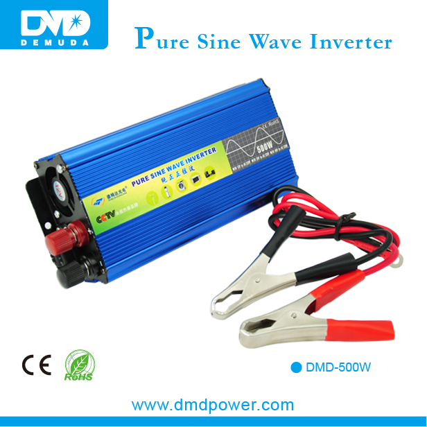 high efficiency off grid dc to ac pure sine wave 500w 12v 220v power inverter for home appliances(China (Mainland))