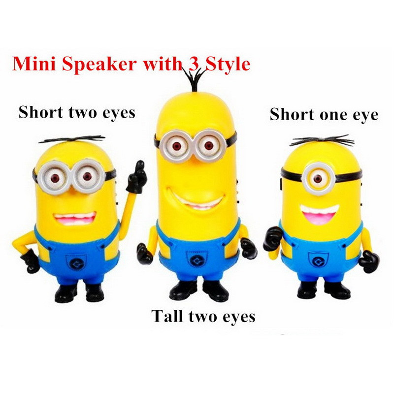 Xmas Cute Mini Speaker Minion Despicable Me 2 Portable Speakers Micro SD TF Card USB MP3 Music Player Hifi Amplifier Loudspeaker<br><br>Aliexpress