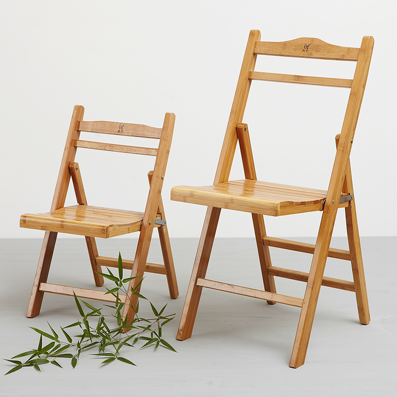 Solid wood folding chairs puter chairs child bamboo chair IKEA fashion hom