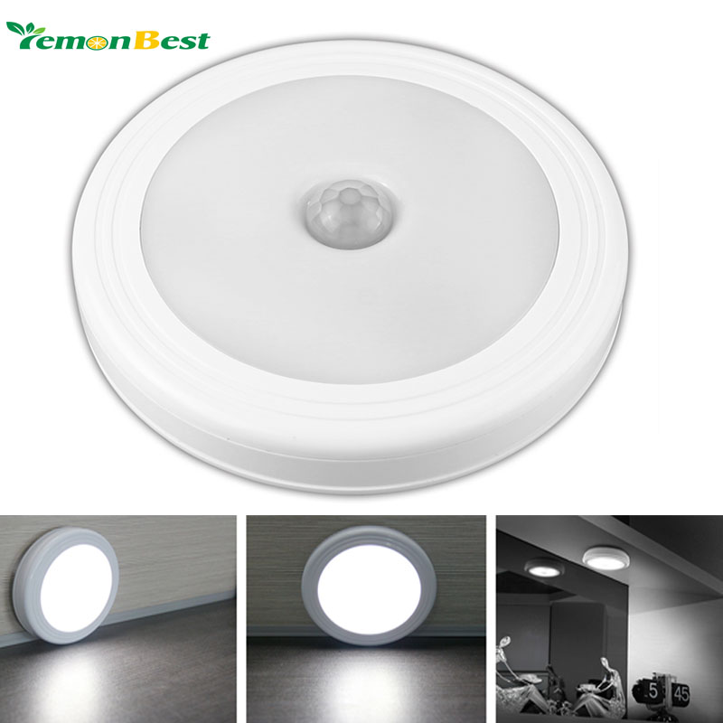 Magnetic Infrared IR Bright Motion Sensor Activated LED Wall Lights Night Light Auto On/Off Battery Operated for Hallway Pathway(China (Mainland))