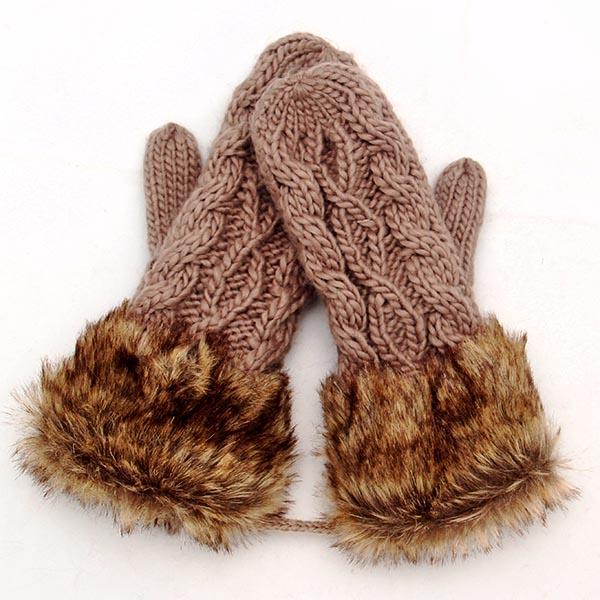 Buy Cute Hot Ladies Girls Mitten Knitting