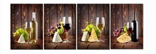 Buy 4 Panels Canvas Painting Wine fruits grapes Cuadors Picture Home Decor Canvas Modern Wall Prints Living Room for $31.14 in AliExpress store
