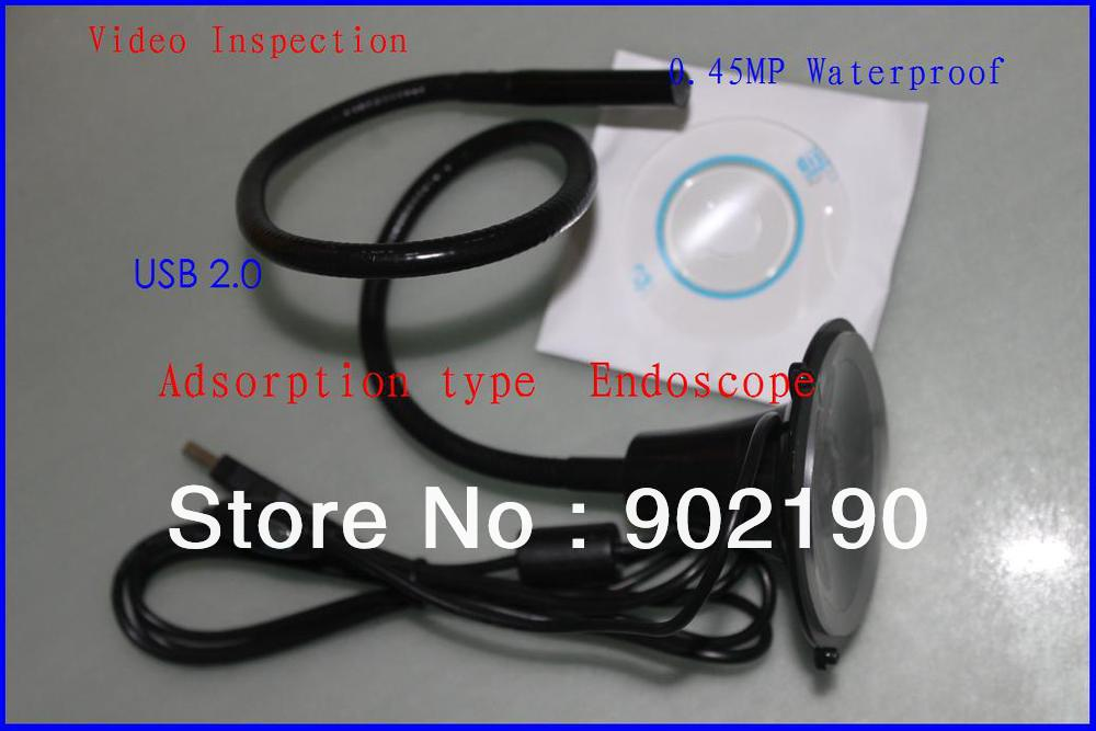 Video Inspection USB2.0 Adsorption type Borescope Waterproof Inspection 2M Endoscope Industrial Endoscopic 0.45MP HD(China (Mainland))