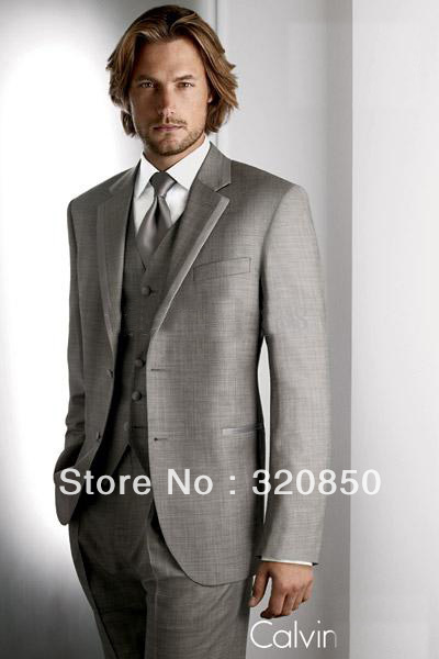 free shipping cheap the popular suits for 2013 custom a made gray suits for wedding groom wear tuxedos men dress(China (Mainland))