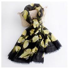 180x90 cm Lemon Pattern Luxury Brand Scarf Women Cotton Foulard Female Journey Decoration Shawl New(China (Mainland))