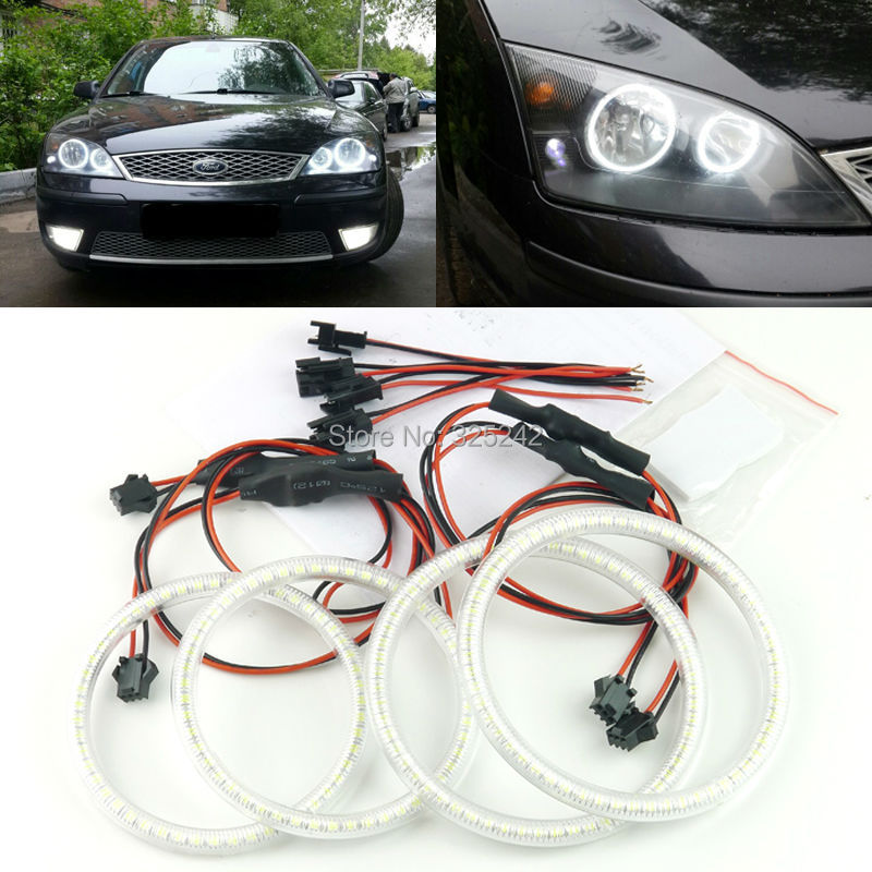 FORD Mondeo MK3 2001 2003 2004 2005 2006 2007 Excellent angel eyes Ultrabright illumination smd led Angel Eyes Halo Ring kit - Geerge-Tech store