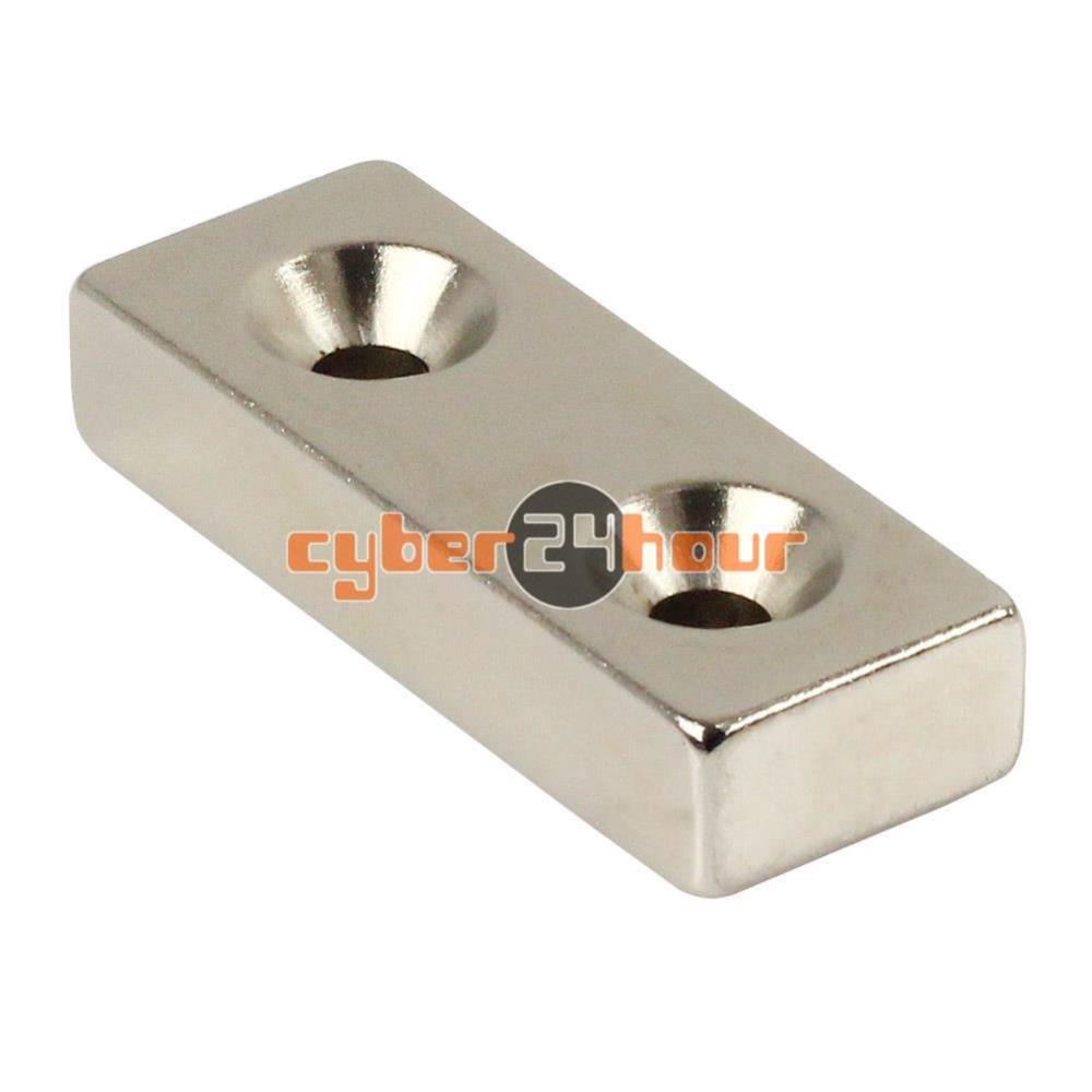 Гаджет  One N50 Strong Block Magnets 50mm x20mm x 10mm two Holes 5mm RareEarth Neodymium None Строительство и Недвижимость