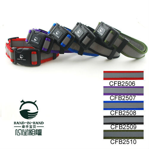 2.5cm Lively Pet Dog Reflective Collar Buckle style (5 Colors) 5pcs/lot free shipping CFB2506(China (Mainland))