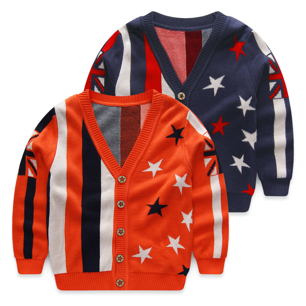 Child 2016 spring and autumn kids sweaters boys child baby knitwear patterns 100% cotton sweater baby boys cardigan clothes(China (Mainland))