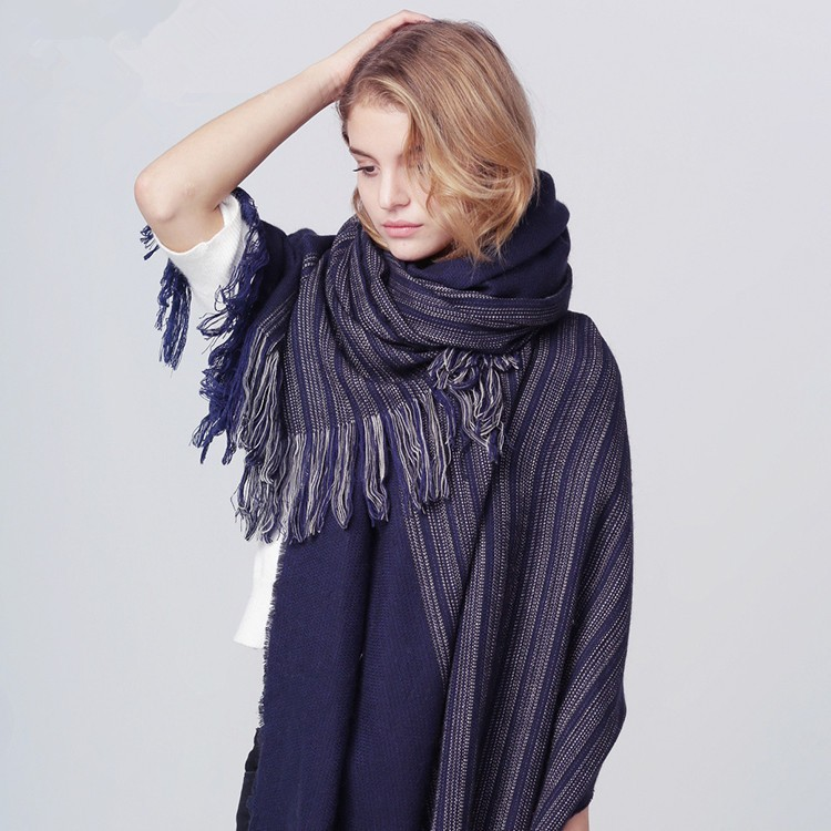 Luxury Brand Scarf Women 2016 Patchwork Striped Scarf Long Infinity Scarf Winter Cashmere Tassel Scarf Shawls Bufandas