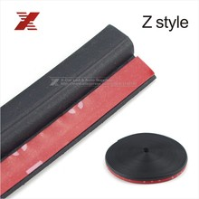 4Meter Z Type 3M Adhesive Car Rubber Seal Sound Insulation Car Door Sealing Strip Weatherstrip Edge Trim Noise Insulation(China (Mainland))