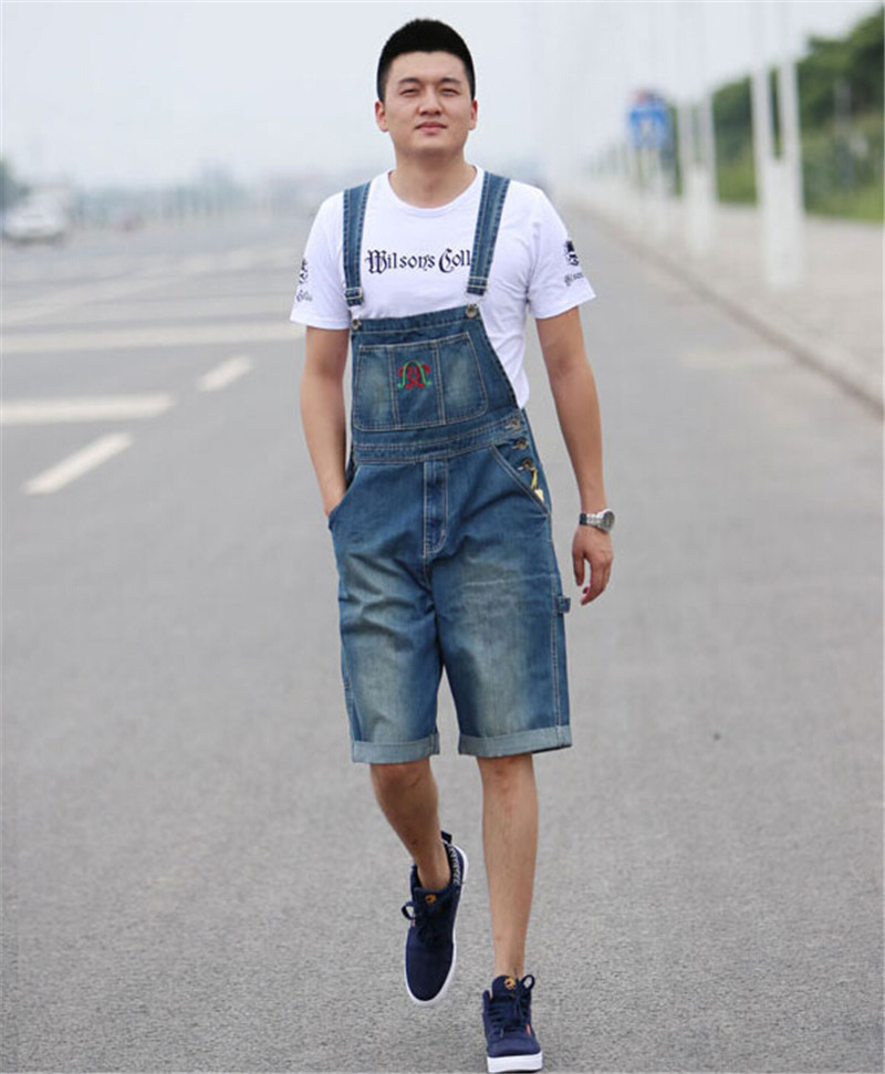 Фотография Summer Preppy Style Fashion Casual Mens Denim Overalls Jumpsuit , Male Stylish Unique Jeans Jumpsuits Bib Pants For Men