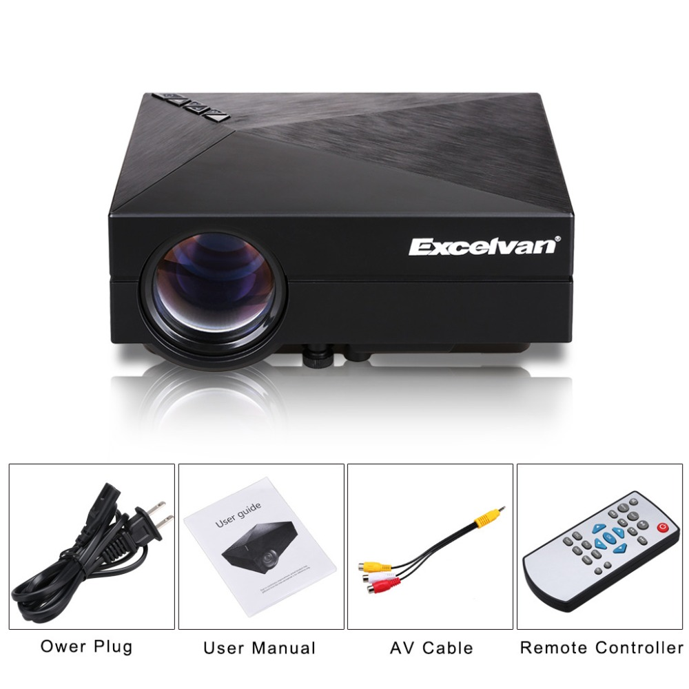 Gm 60 led projector full hd gm60 christmas projector hdmi for Hdmi pocket projector
