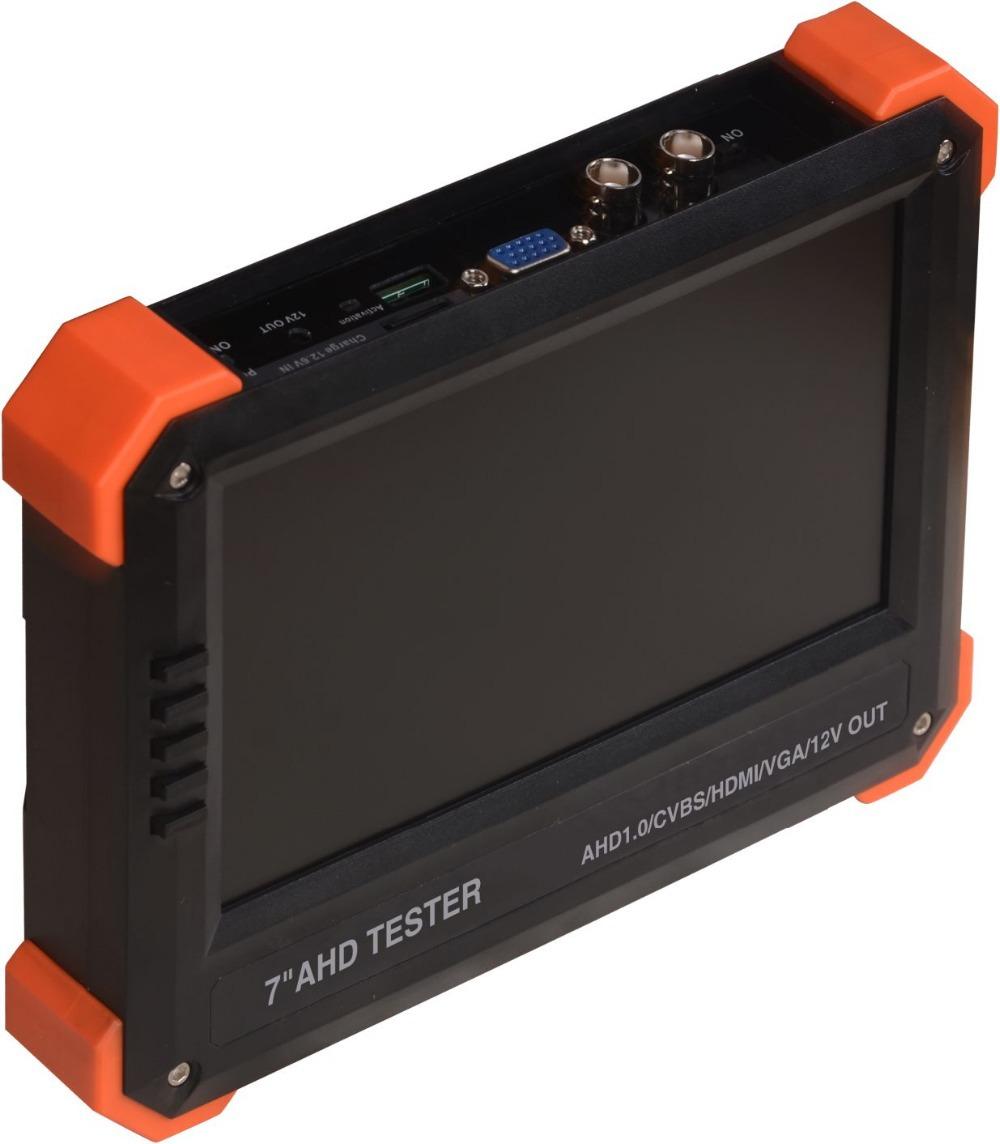 """7"""" AHD camera tester CCTV tester monitor AHD analog camera testing VGA HDMI input 12V2A output(China (Mainland))"""