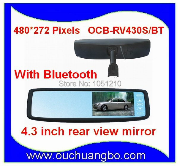 Anti-vertigo suppport BT manual answer mode 4.3 Car Vehicle Rearview Mirror Monitor Russian language OCB-RV430<br><br>Aliexpress