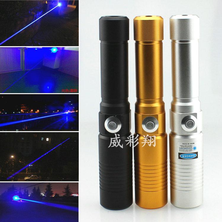 Newest 3000mw 3W High Power Blue Laser Pointers Flashlight Combustion 3000mW laser pen lazer High power blue laser flashlight(China (Mainland))