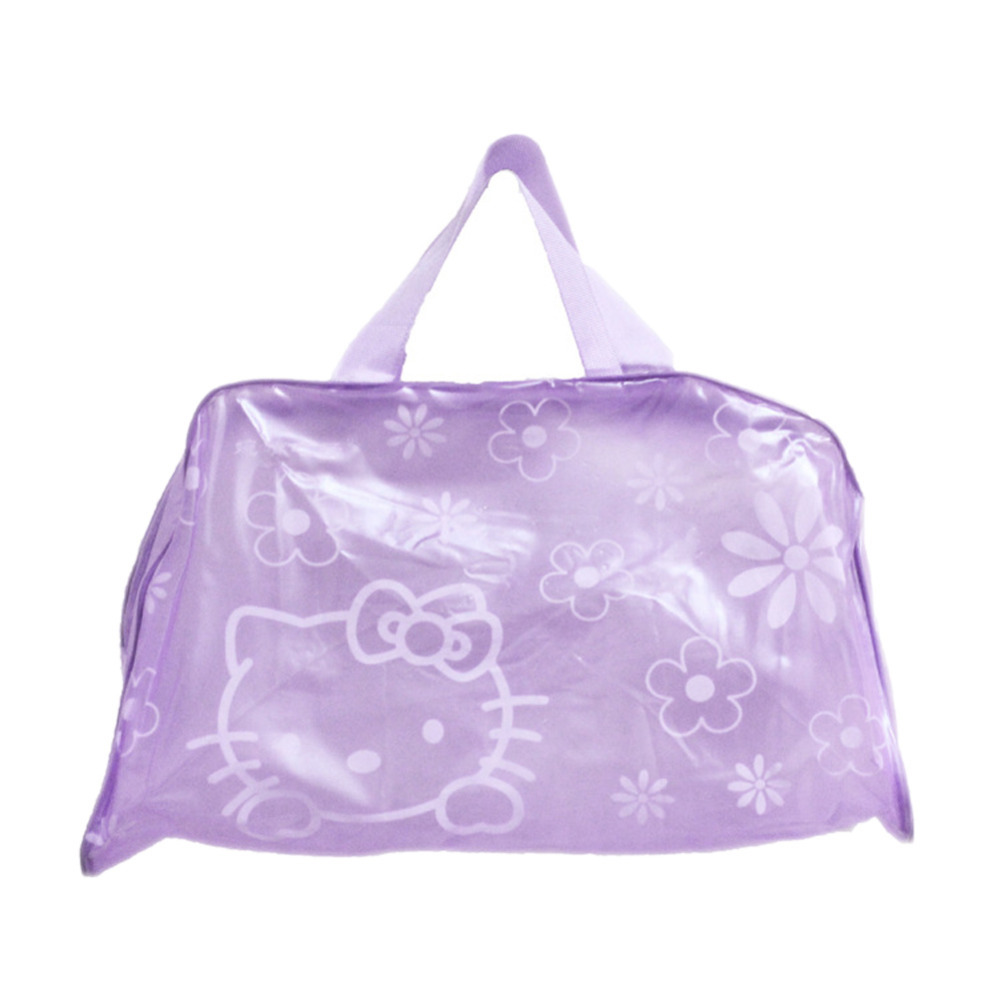 Fashion Hello Kitty Cartoon Cosmetic Bag Personal Cleaning Supplies Thick Waterproof Shower Bag Portable Bath Package BG-0599/br(China (Mainland))