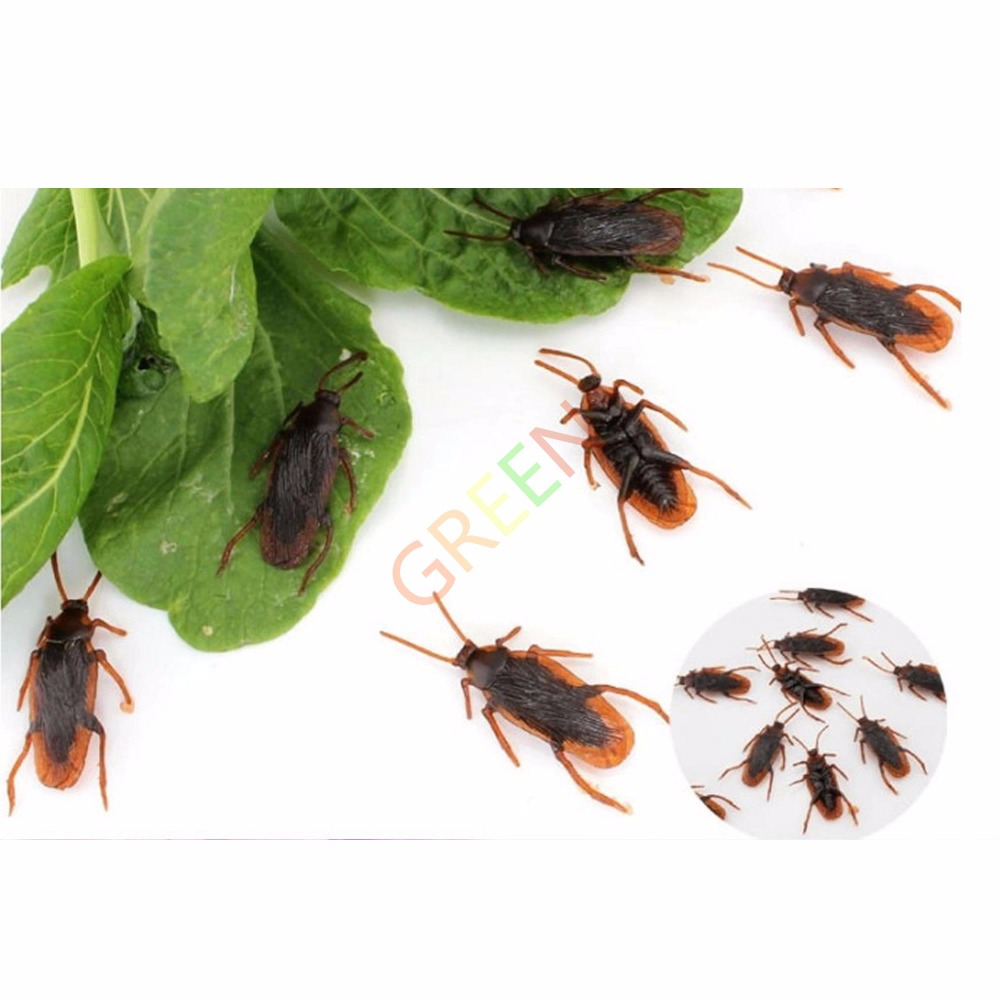 5 X Life-like Emulation Cockroach Fake Roach Blackbeetle Trick Practical Joke Insect(China (Mainland))
