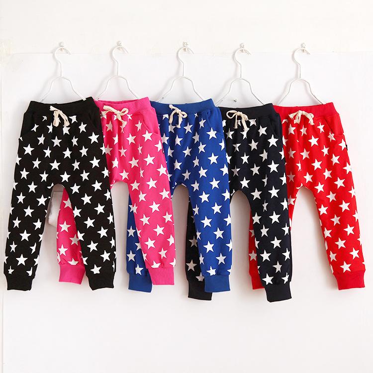 BK-472, 6pcs/lot, spring children girls boys harem pants, star print casual long trousers<br><br>Aliexpress