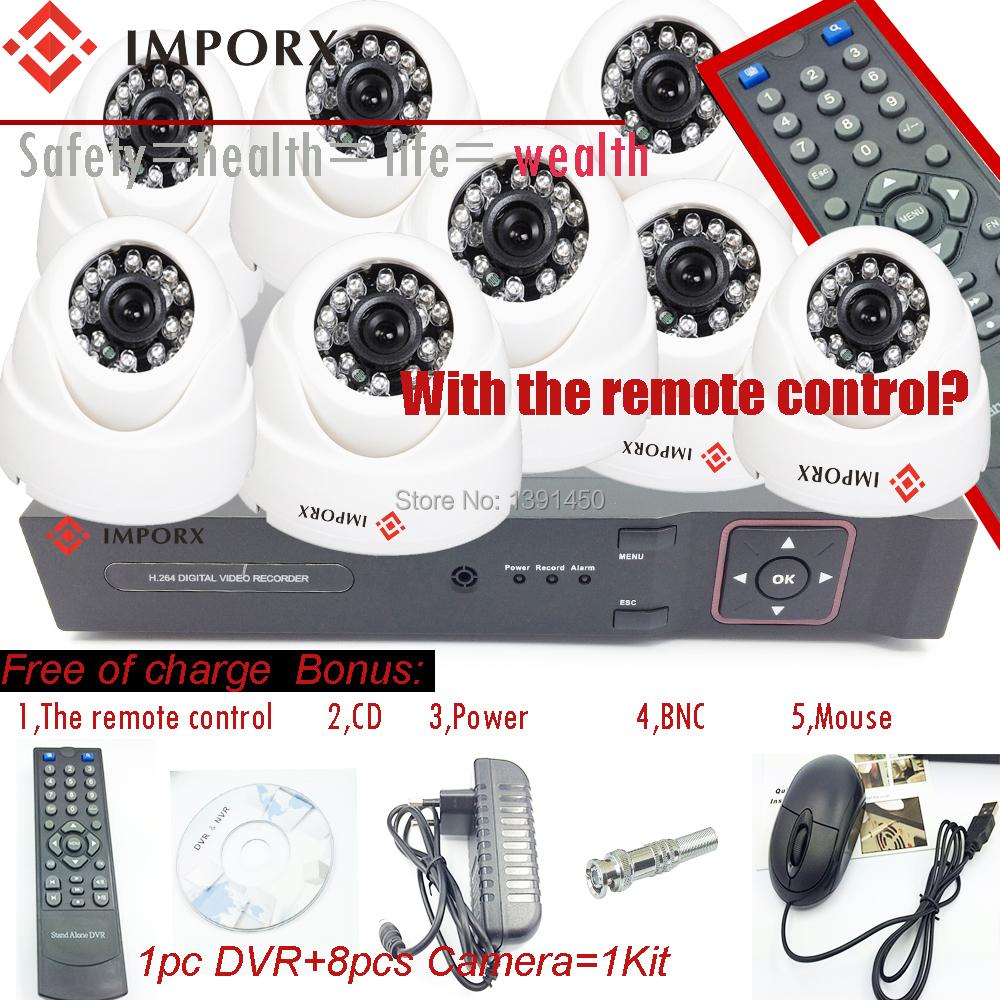 Гаджет  Home 900TVL 4CH CCTV Security Camera System 8CH DVR 900TVL indoor Day Night IR Camera DIY Kit Color Video Surveillance System None Безопасность и защита