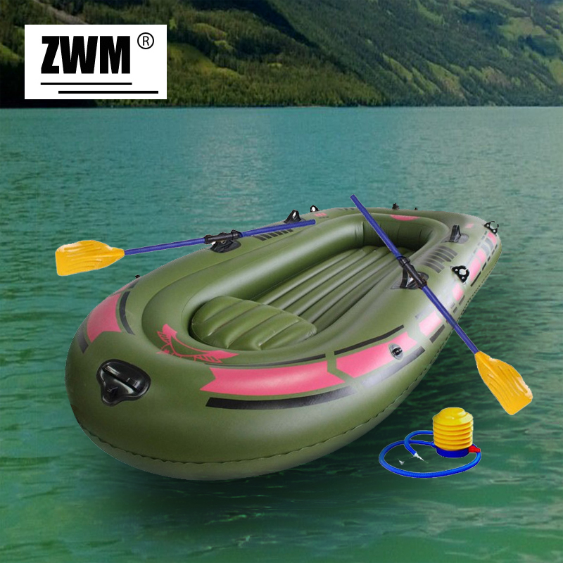 Inflatable boat portable single boat high strength pvc for Portable fishing boat