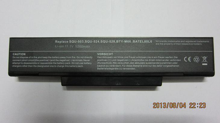 6cells laptop battery forGreatWall T50,Gigabyte W551N W566N W566U W468N W5661N 5661U SQU-528,SQU-524(China (Mainland))
