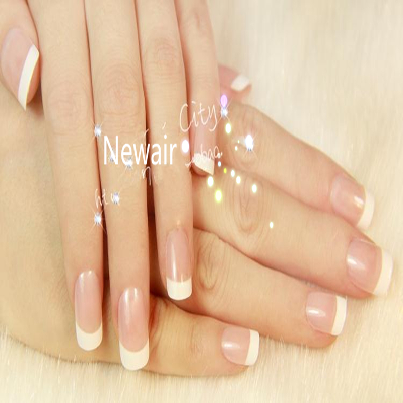 French False Nails Elegant OL ABS Full Cover Fake Nail Classical French Nail Tips Manicure Tips Accessory Unhas Art Short(China (Mainland))