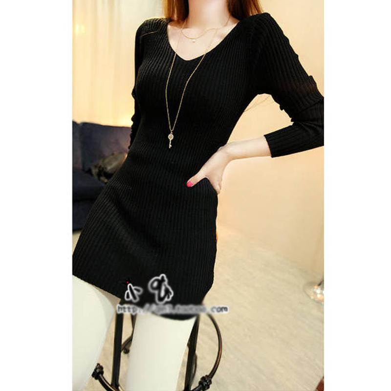 Korean Fashion Women Dress Back Sexy Lace Crochet Knit Dress and Long Sections Plus Size Women Clothing(China (Mainland))